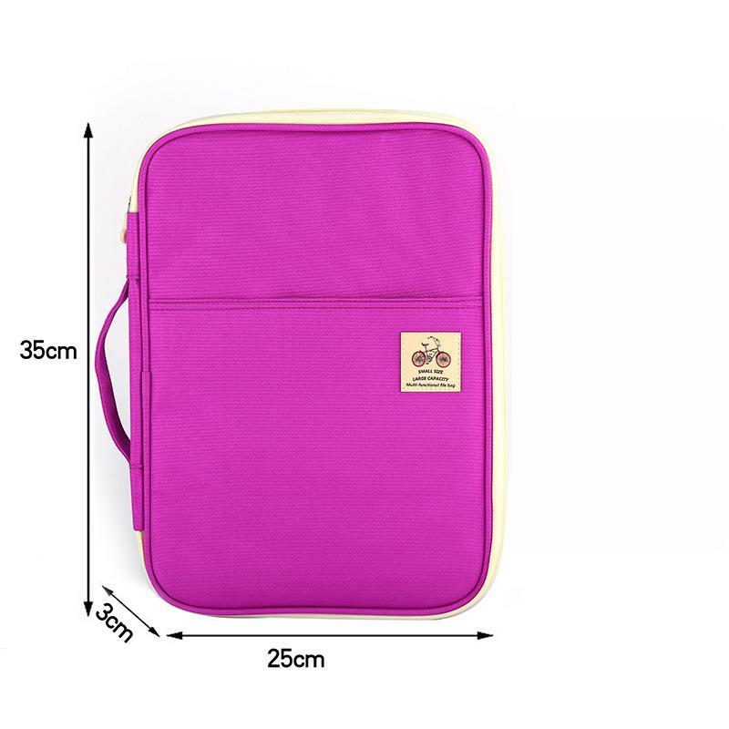 Jonvon Satone Multi Function A4 File Bag Portable Zipper Desk Accessories Office Supplies Organizador Escritorio Desk Organizer 6