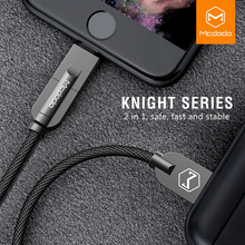 Mcdodo Lightning to USB Cable For iPhone X 8 7 Plus 2 IN 1 Fast Charging Micro USB Cable For Samsung S8 Xiaomi Huawei Data Cable