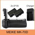 Meike BG-E14 вертикальный держатель батарейного отсека для Canon EOS 70D + 2xLP-E6 + зарядное устройство