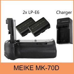 Meike BG-E14  Vertical Battery Grip Holder For Canon EOS 70D + 2xLP-E6 +Charger