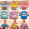 Chair Cushion Sofa Kids Children Baby Portable Seat Dog Pig Monkey Bear Cartoon Crown Seat Game Plush Only Cover No Filling