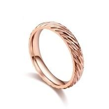 цена Women Titanium Steel Finger Ring Fashion Couple Rings Wedding Party Jewelry онлайн в 2017 году
