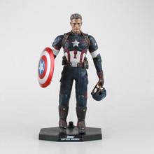 "1pcs/set Captain America Avengers Action Figures Change Hand Hot Toys Super Hero Marvel Iron Man Marvel's 12"" Model Toys Gifts"