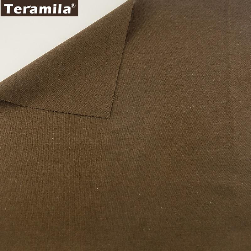 Tejido de lino de algodón de coser material teramila tissu mantel almohada bolsa