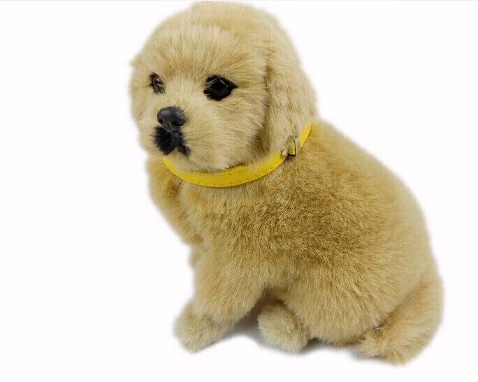 Моделирование собака плюшевые игрушки реквизит 18 x 10 x 17 см приседания собака кукла рождественский подарок детские игрушки w5462