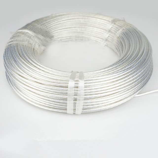 Silver Electrical Cable : Silver plated high temperature wire oxygen