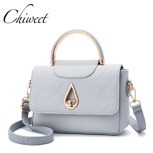 Brand Ring Handle Pu Leather Women Bag Designer Handbags Shoulder Bags Square Tote Las Hand