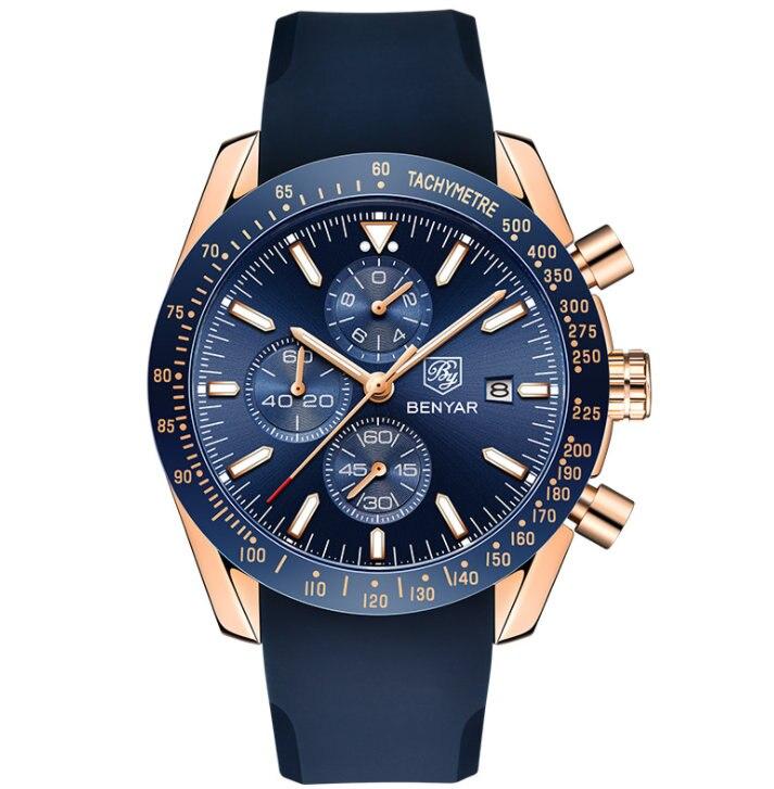 PAGANI konstrukcyjne mężczyźni moda niebieski dial chronograph zegarek kwarcowy mężczyźni Sport biznes zegarki luksusowe zegarki ze stali nierdzewnej saat w Zegarki kwarcowe od Zegarki na  Grupa 1