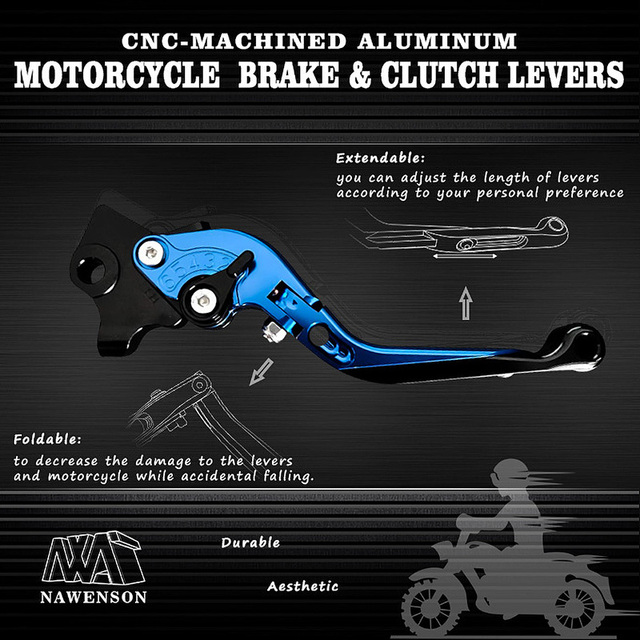 Motorcycle Adjustable Levers Foldable Extendable Brake Clutch Handles for Honda CBR1000RR/FIREBLADE 2004 2007 for CB1000R 08 16|Levers, Ropes & Cables|   -