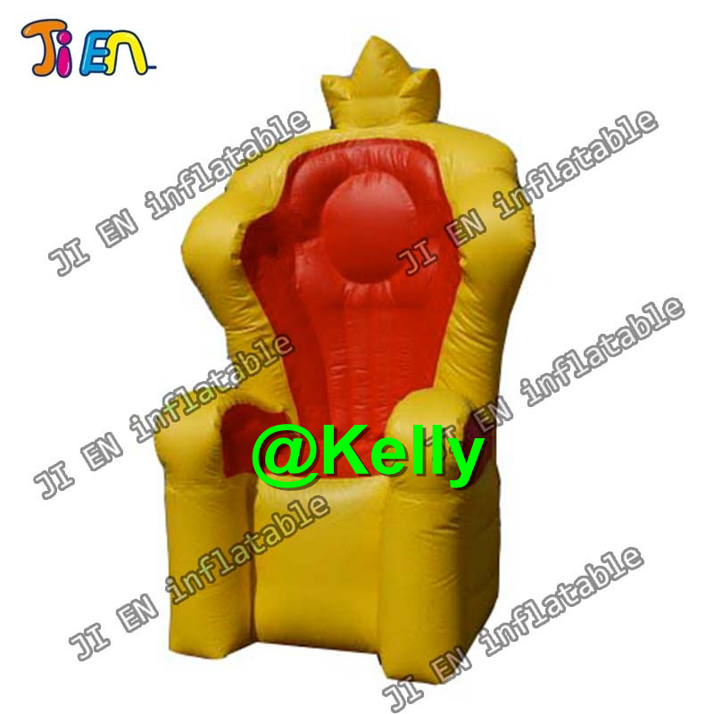 Inflatable Kids Birthday Chair: Free Air Shipping 2m High Inflatable King Throne For