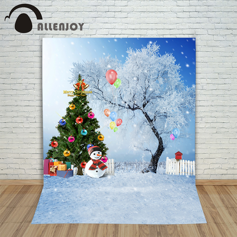 New Christmas backgrounds for christmas photo studio Snowman with tree ball kids photocall 10x10ft lovely photography backdrop
