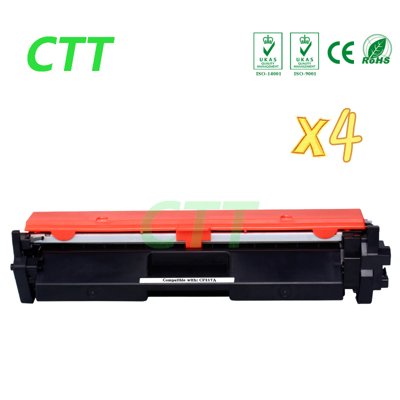 4 pack laserjet printer cartridge CF218A toner for HP LaserJet Pro M104a M104 CF218A CF218 CF 218A 218 BK 1500pages no chip toner reset chip for hp color laserjet enterprise m477fdw m452dn m477 m452 laser printer cartridge chip cf410x cf 410 cf410