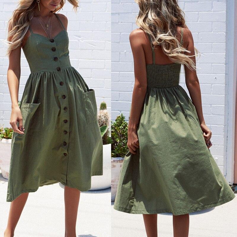 7bdb8849e073 Boho пляжное платье без рукавов с высокой талией повседневное принт женское  платье тонкий элегантный Женская одежда лето 2019 сексуальные Клуб..