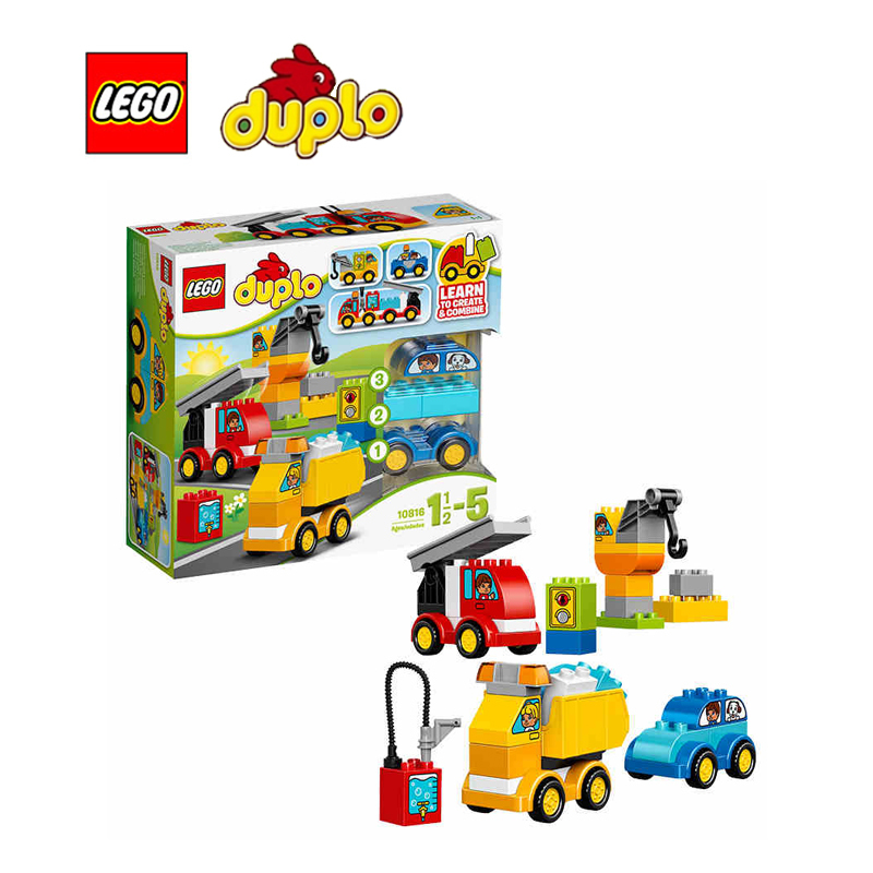 Lego duplo my first cars and trucks architecture building for Modele maison lego duplo