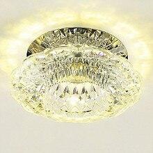 10 шт. светодиодный 10*10*5 см мини K9Crystal потолочный светильник прожектор светодиодный 3 Вт 110-240 В