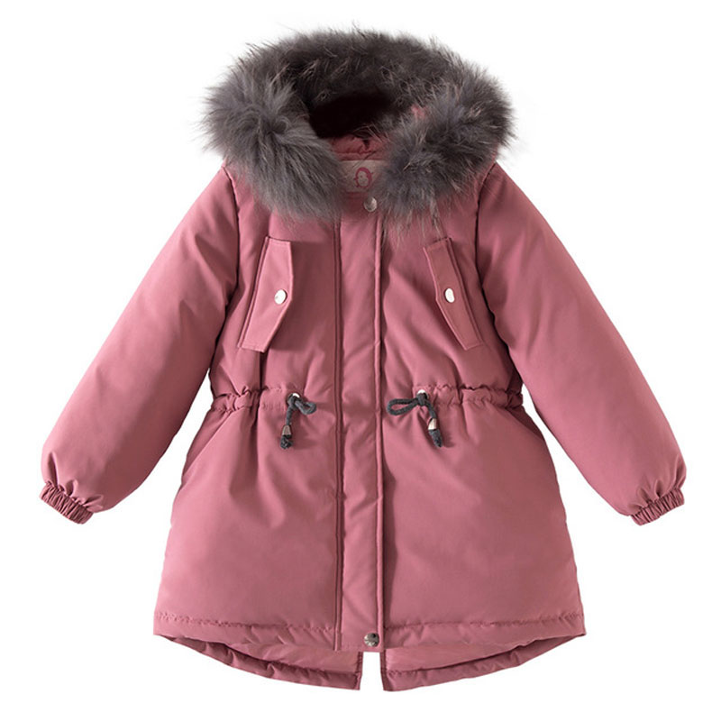 Kids Winter Jacket For Girl Thick Warm Hooded Children Outwear Coat Embroidery Flower Girls Parka Jackets 3-11Y RT202 high quality new winter jacket parka women winter coat women warm outwear thick cotton padded short jackets coat plus size 5l41