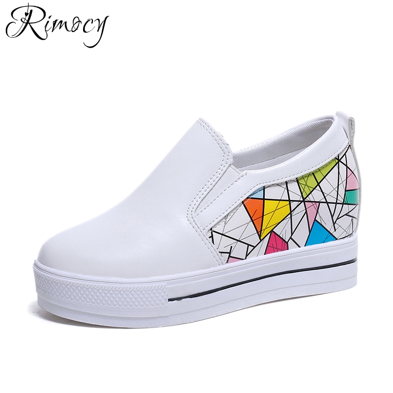Rimocy comfort platform slip on loafers women spring summer mix color flat heels casual Vulcanized shoes woman flats zapatos sweet women high quality bowtie pointed toe flock flat shoes women casual summer ladies slip on casual zapatos mujer bt123