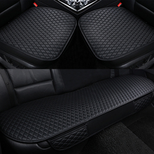 Universal Car Front Back Rear Seat Cover Breathable PU Leather Pad Mat Cushion For 5 Seat Auto Chair Seat Cushion