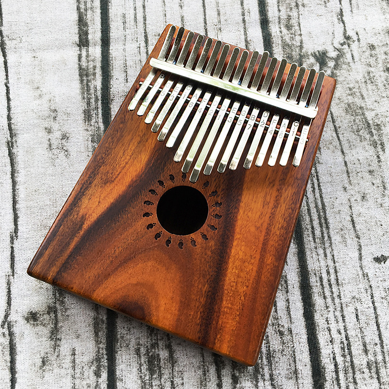 W 17T 17 Keys Kalimba Thumb Piano High Quality Wood Mahogany Body Musical Instrument With Learning Book Tune Hammer