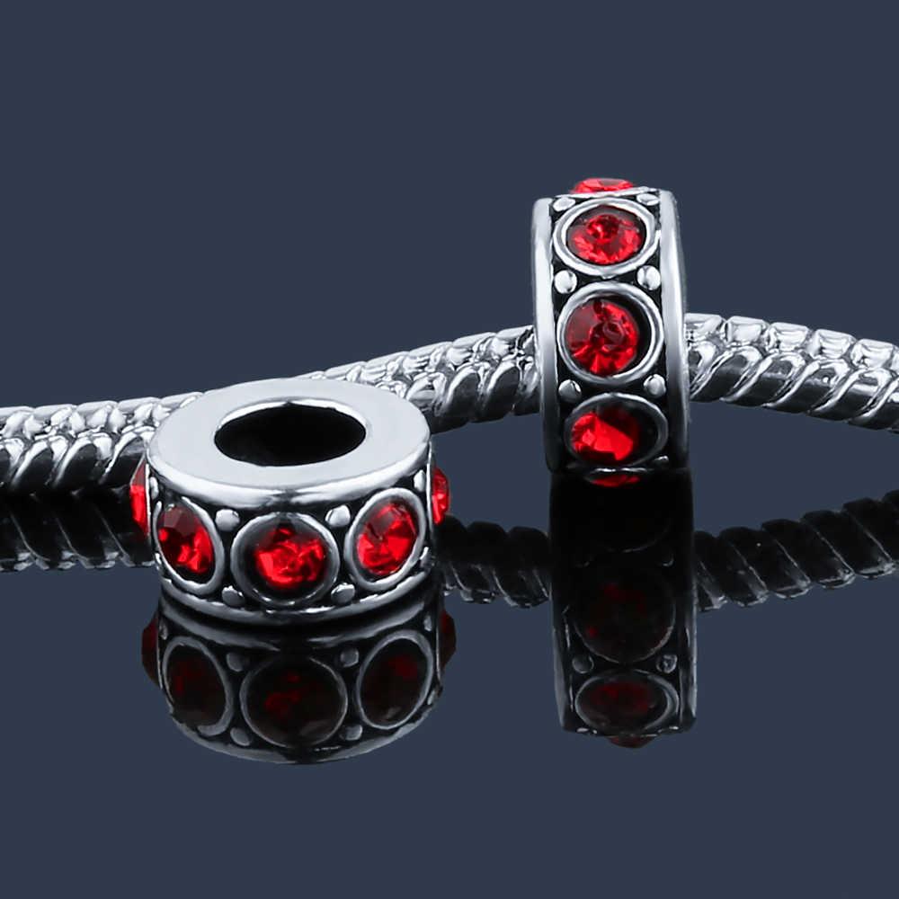 Diy Pha Lê Spacer Charms Gốc Cơ Bản Hạt Fit DIY Phong Cách Pha Lê Châu Âu Charm Bracelet & Bangle thời trang nữ trang sức