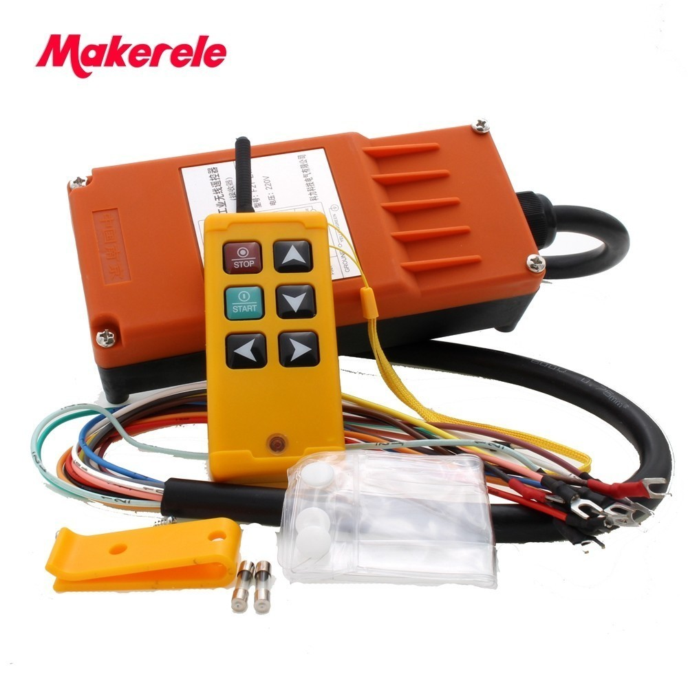 Makerele MKLTS 6 6 keys Control industrial Remote Controller 1 transmitter 1 receiver DC12V 24V AC36V