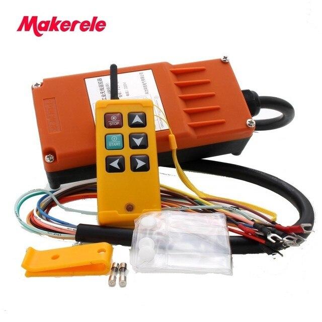 Makerele MKLTS 6 6 teclas de Controle industrial Controle Remoto transmissor + receptor 1 1 DC12V 24 V, AC36V 110 V 220 V 380 V