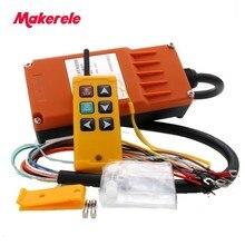 Makerele télécommande industrielle MKLTS 6 à 6 touches, 1 transmetteur + 1 récepteur, dc 12V 24V, ac 36V, 110V, 220V, 380V