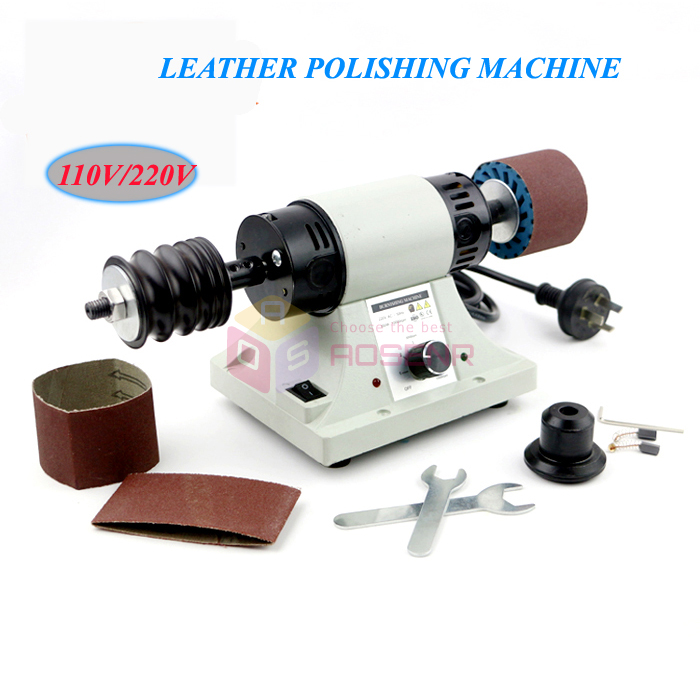 110V 220V 350W Leather Polishing Machine Belt Leather Edge Burnishing Machine Leather Polisher Burnisher