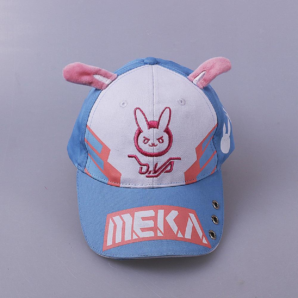 DVA Rabbit Ear Cute Baseball Cap Women Cartoon Printed Lady Hat Japanese Comic Hot Sale D.va Casual Fashion Cap Adjustable (2)