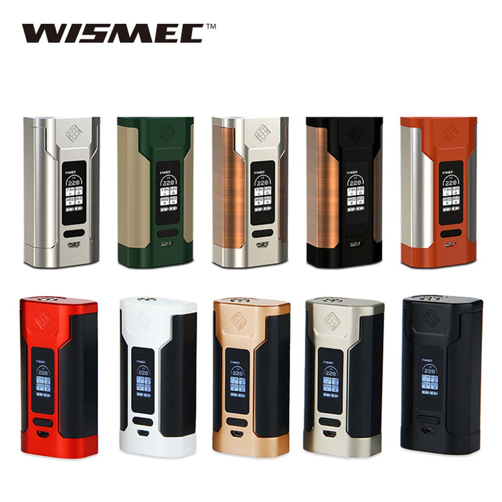 De WISMEC Predator 228 W TC MOD con pantalla OLED 0,05-1.5ohm resistencia No 18650 batería para Elabo electrónica cigaette Kit