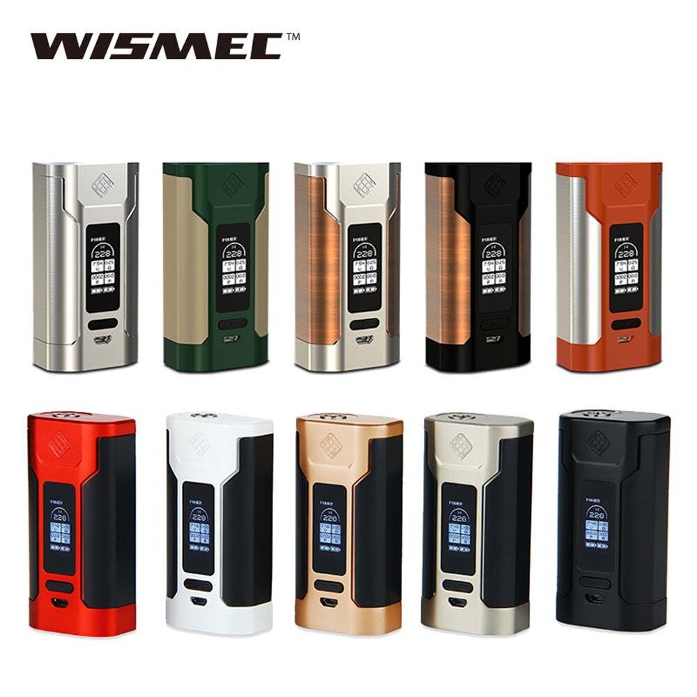 Liquidazione WISMEC Predator 228 w TC MOD con Schermo OLED 0.05-1.5ohm Resistenza Nessuna Batteria 18650 per Elabo Elettronico cigaette Kit