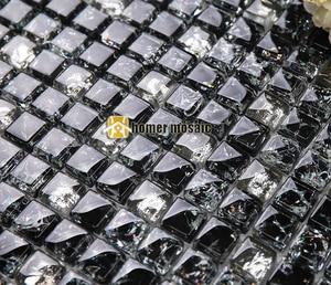 Квадратная стеклянная мозаичная плитка для льда для ванной комнаты, плитка для душа, кухонная плитка для стены HMEE013