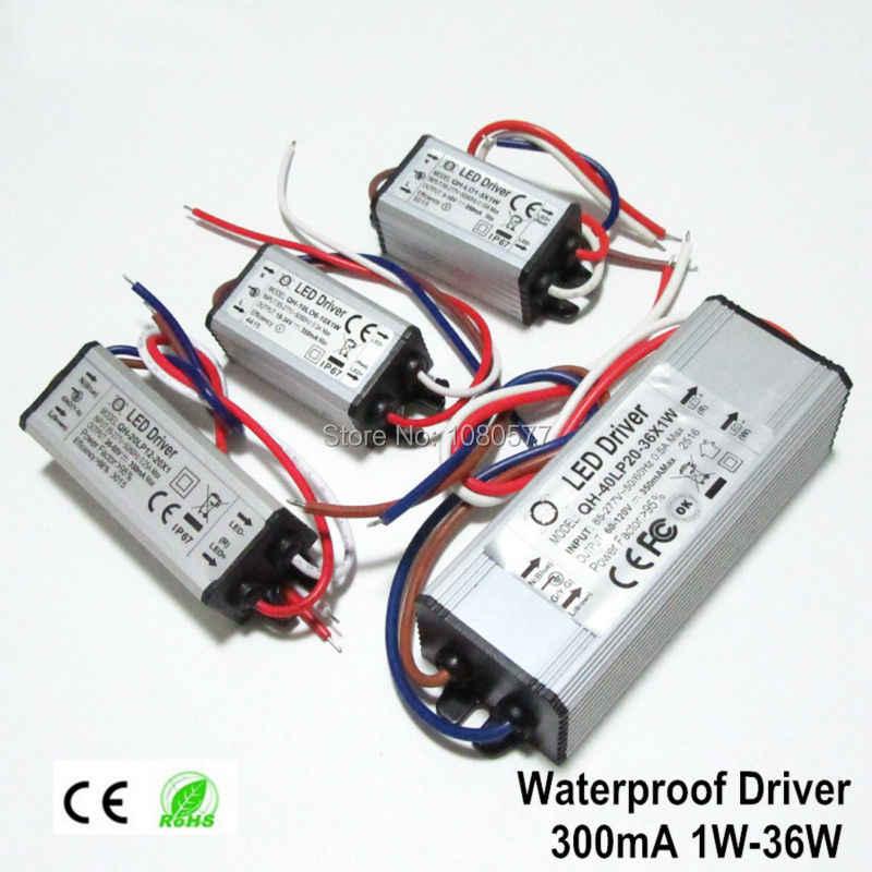 2pcs Sourcingmap Constante corriente 300 mAh LED de alta potencia controlador DC Conector de alimentaci/ón externa LED l/ámpara de techo rectificador transformador 8-12W