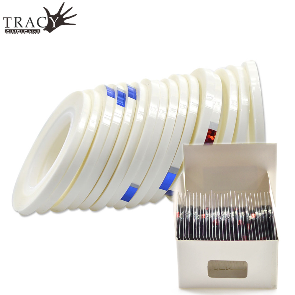 Tracy Simple Nail 30 Rolls Pack Laser Art Glitter Transfer Foils White Black Striping Tape 3mm Line Manicure Trnc364 365 In Stickers Decals From