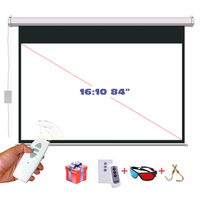 84 Inches 16 10 Electric Motorized Projector Screen Pantalla Proyeccion 3D Proyector Projection Screen Remote Controller