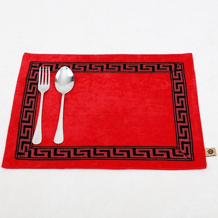 Лоскутный с вышивкой кружевное китайские столовые приборы стол колодки Статуэтка винтажный Европейский стиль бархатная ткань Настольный коврик