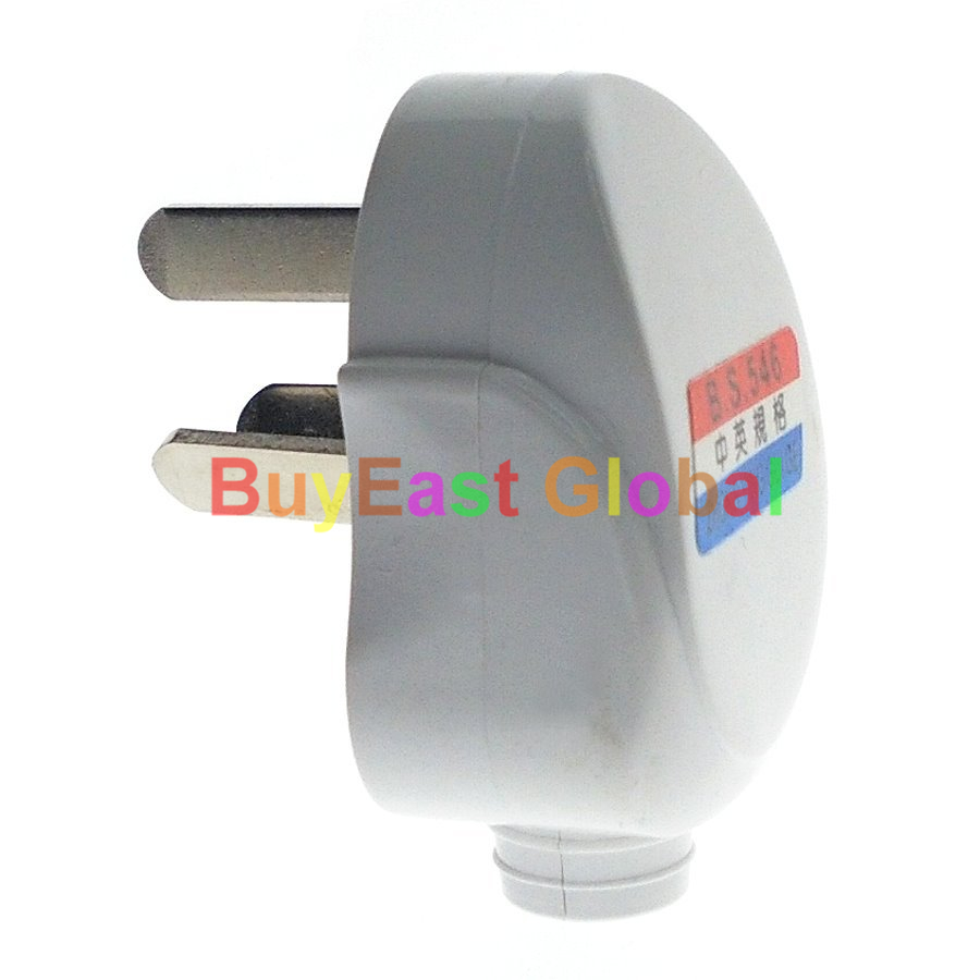 (2 PCS) CHINE Standard 3-Pin DIY Recâblable Prise D'alimentation AC100 ~ 250 V 10A Blanc Couleur