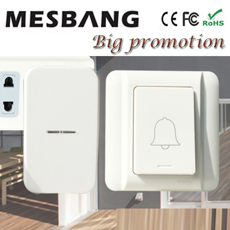 New hot wireless doorbell Door bell right mhz433 no need batter cable easy to install  Free Shipping hot sale wireless doorbell easy