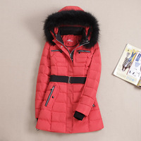 Special offer /Great value for money original single new Russian thick long section slim slimming fur collar down jacket