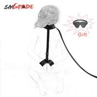 SMSPADE Black Soft Collar-to-Wrist Cuffs Bondage Adult Sex Toy for Couples Restraints Slave Fetish Sex Toys Games