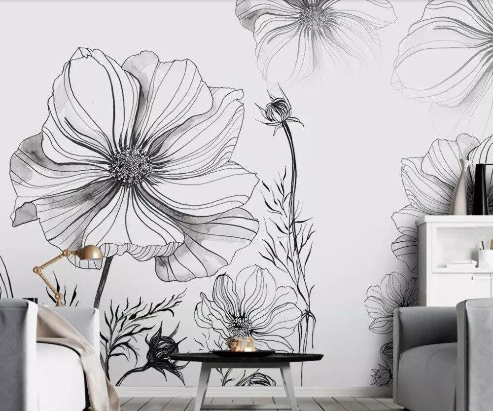 Beibehang Custom Wallpaper Home Decoration Mural Modern Minimalist