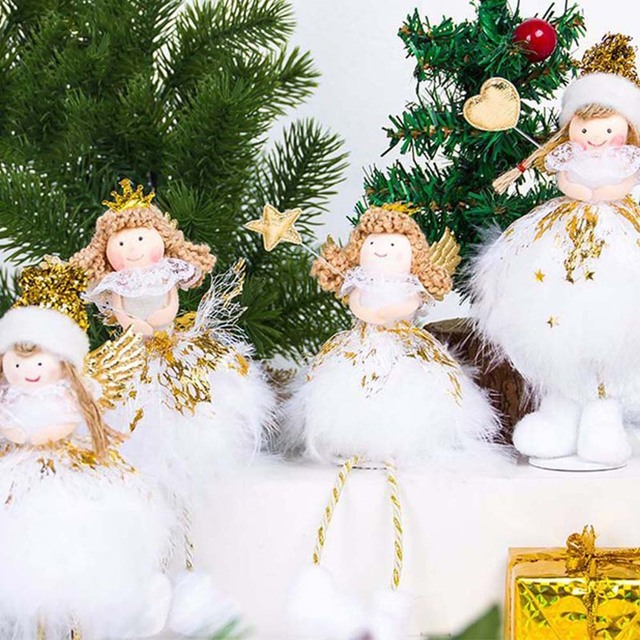 christmas angel doll toys christmas decorations for home christmas tree decorations xmas kids new year gifts