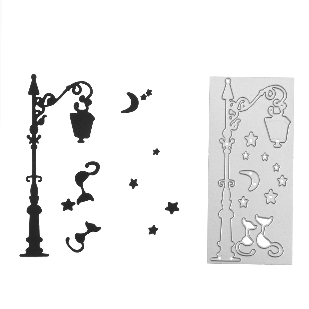 Street Lamp Metal Cutting Dies for Scrapbooking  Craft DIY Embroidery Die Cut Stencil Decoration Craft