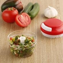 Convenient Plastic Kitchen Food Chopper Dicer Slicer Meat Cutter Mixer Salad Crusher Gadget for Grinding& Shredding Ginger