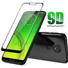 9D Cam Moto G7 Güç Durumda Moto G7 Artı Oyun Güç Temperli Cam G7Plus G7Play G7Power G 7 7G XT1952 XT1955 Kapak
