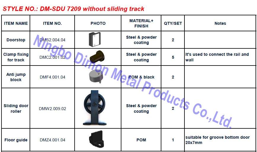 DM-SDU 7209 sem pista deslizante