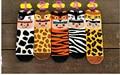 Estilo coreano de la historieta animales tigre caw leopardo calcetines estilo 3D calcetines calcetines de algodón mujeres de la manera suave de buena calidad