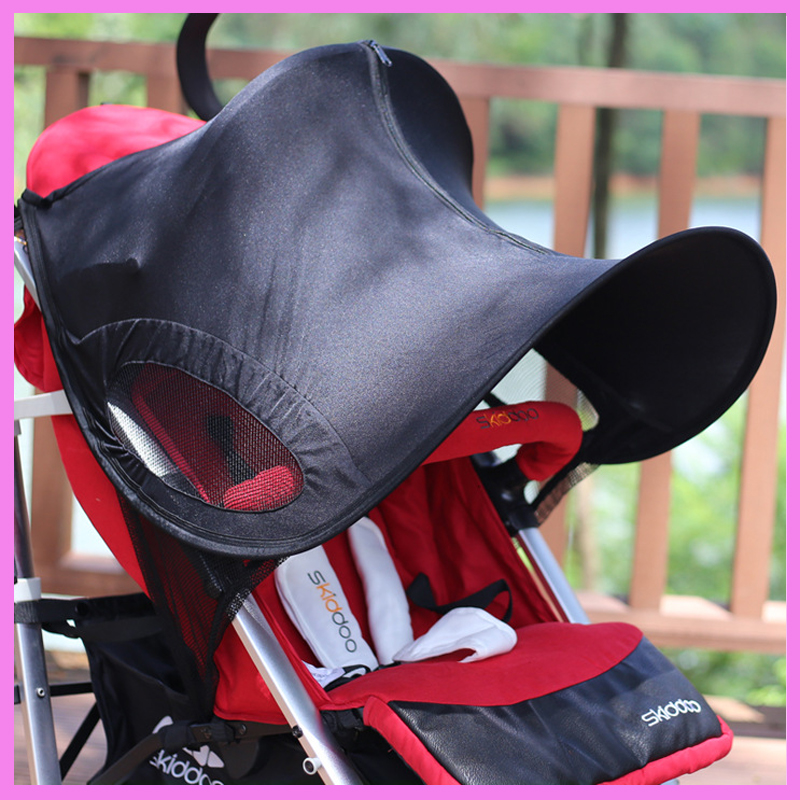 Baby Stroller Accessories General UV Protection Sun Shade Umbrella Folding Baby Stroller Roof Sunshade Rain Cover for Pram цена 2017