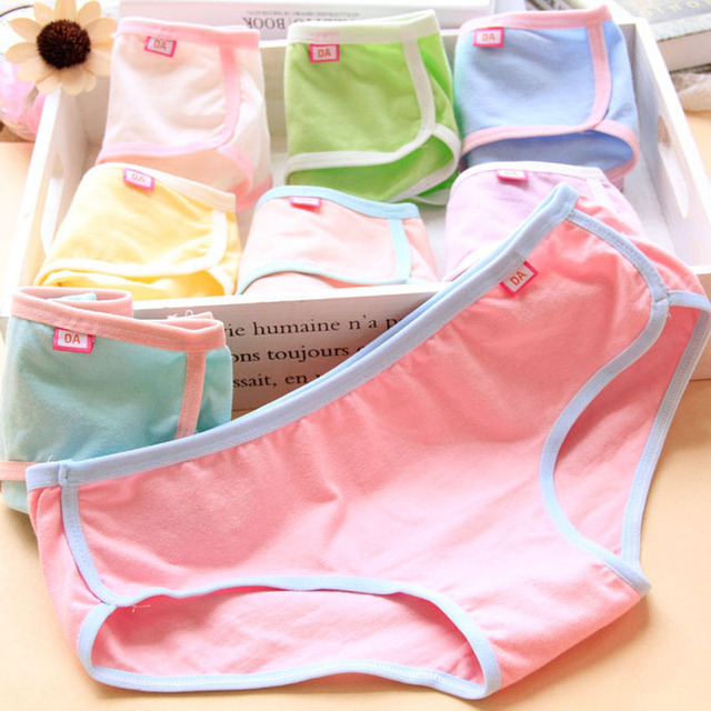 f07987601c041 Solid Fresh Color Cotton bikini briefs Women Breathable sexy Panties  seamless girl Comfort Underwear Low-