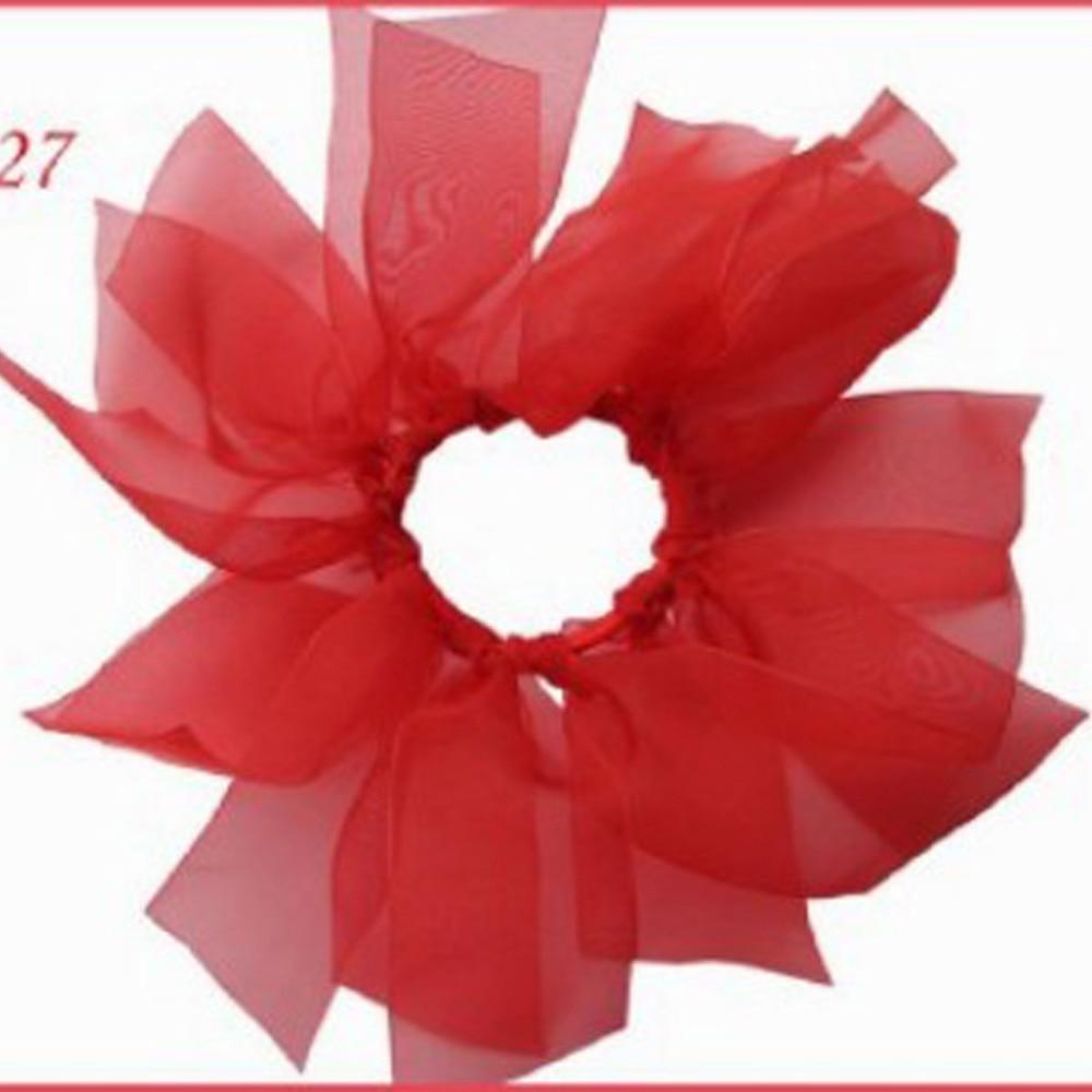 "100 BLESSING Good Girl Woven Headband 6.5/"" Double ABC Organza Hair Bow Clip"